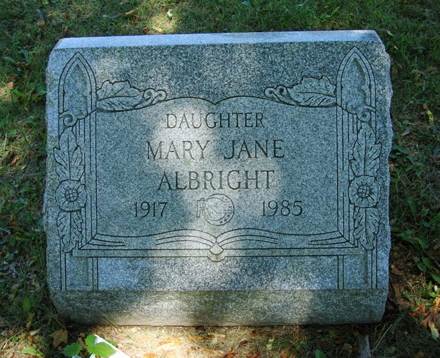 albright  mary jane  daughter