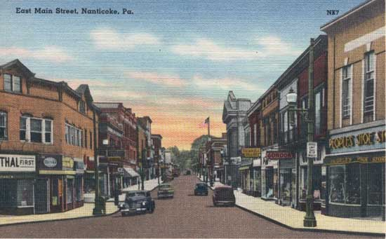 penny postcards from luzerne county  pennsylvania
