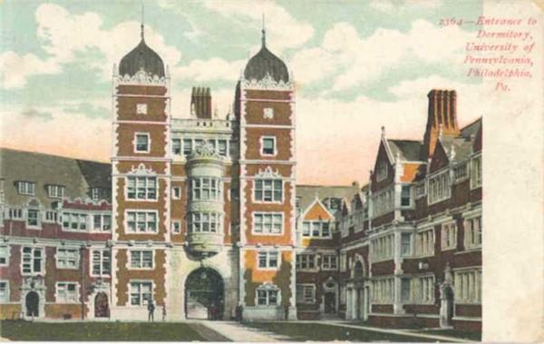 Entrance to dormitory university of pennsylvania