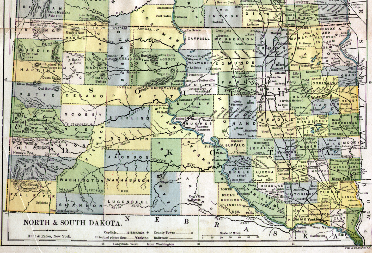 Statewide Resources South Dakota Maps And Gazetteers - Map of sd