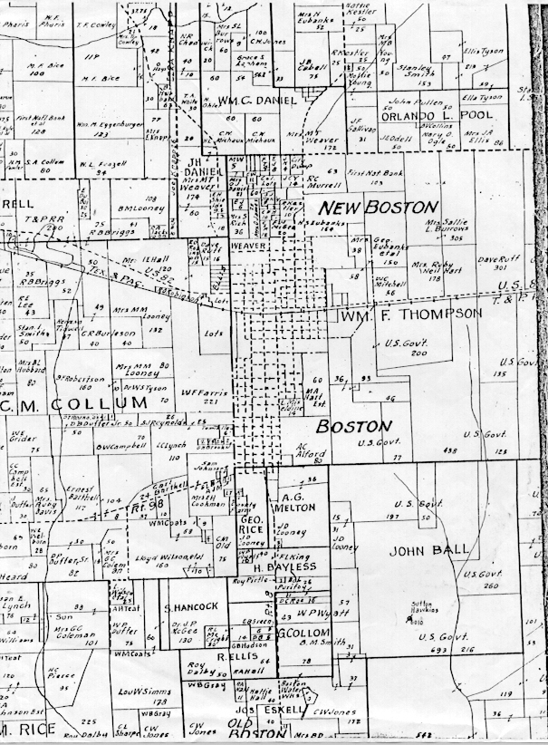 Bowie County Tx Usgenweb Archives: Franklin County Plat Maps At Slyspyder.com