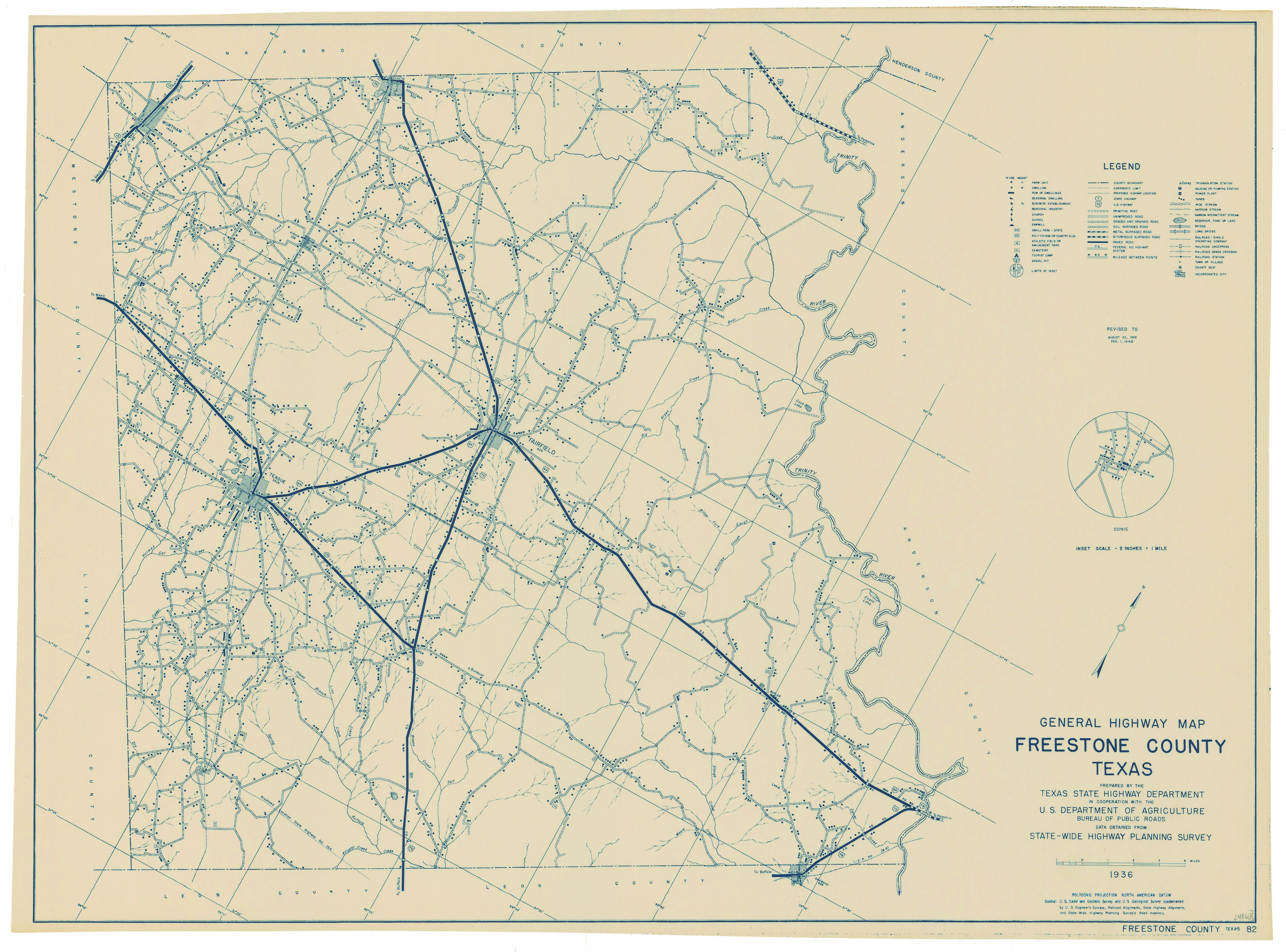 Texas County Map - 1920 us road map