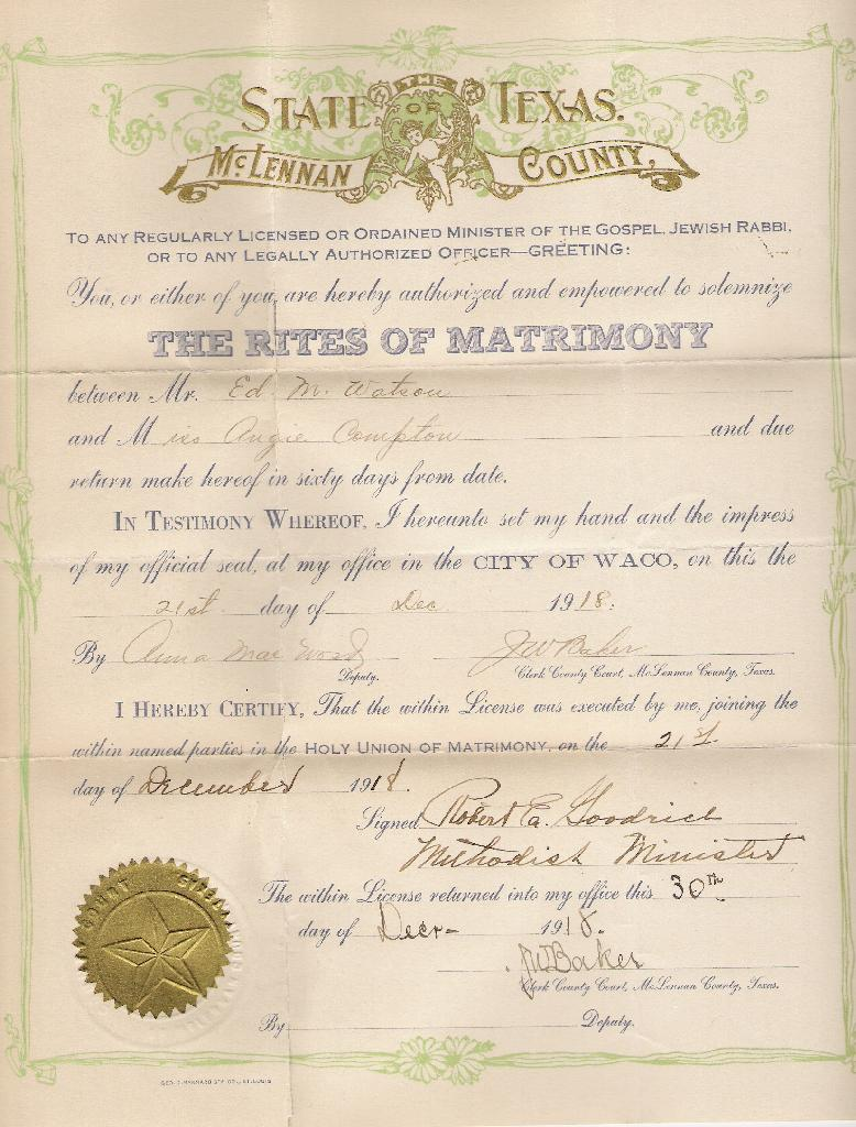 public records marriage license in texas