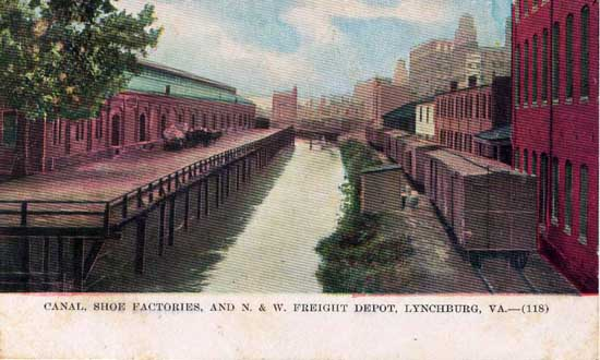Penny Postcards from City of Lynchburg, Virginia