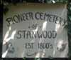 Stanwood Pioneer Cemetery Sign