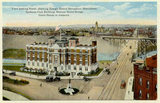 Bridge Street Auto >> Penny Postcards from Spokane County Washington