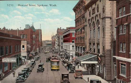 Bridge Street Auto >> Penny Postcards from Spokane County Washington