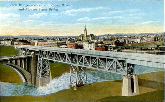 National City Auto Center >> Penny Postcards from Spokane County Washington