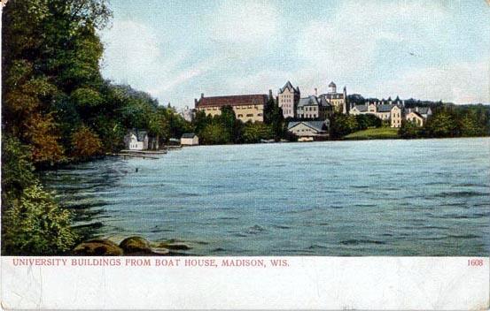 Elizabeth Waters Hall  Girls  Dormitory. Penny Postcards from Dane County  Wisconsin