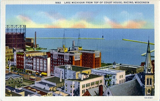 penny postcards from racine county  wisconsin