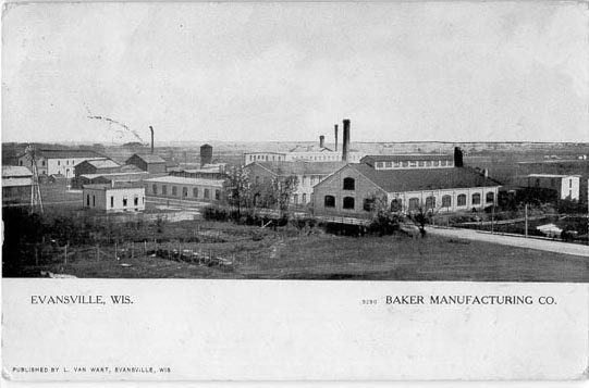 Baker Motor Company >> Penny Postcards from Rock County, Wisconsin