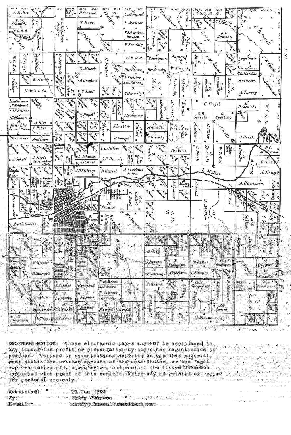 Wisconsin county map 1900 plat map of medford sciox Gallery